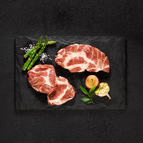 [프리미엄포크] 도토리먹고자란 프리미엄돼지 이베리코 목살 500g X 2팩/ 3팩 이미지