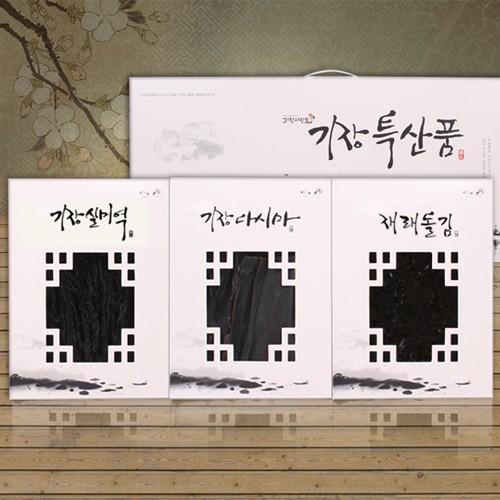 웰빙청정海 기장미역&다시마&돌김 3P 선물세트