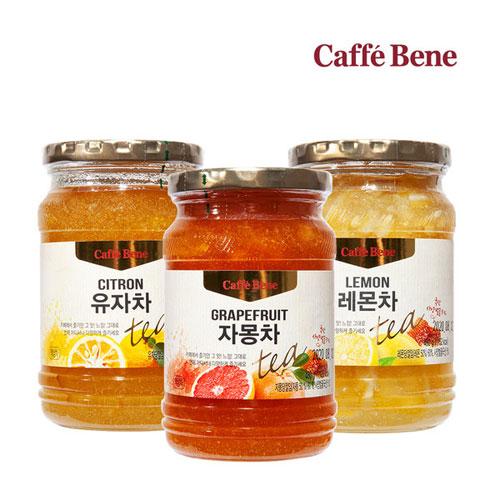 [카페베네] 국산벌꿀이 함유된 유자차/레몬차/자몽차/생강차/청귤차 1kg + 1kg 이미지