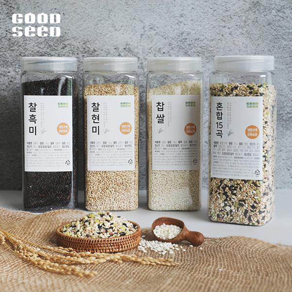 [굿씨드] 매일먹는 영양가득! 국내산 혼합15곡+찹쌀 3종세트 [1kg×4통]