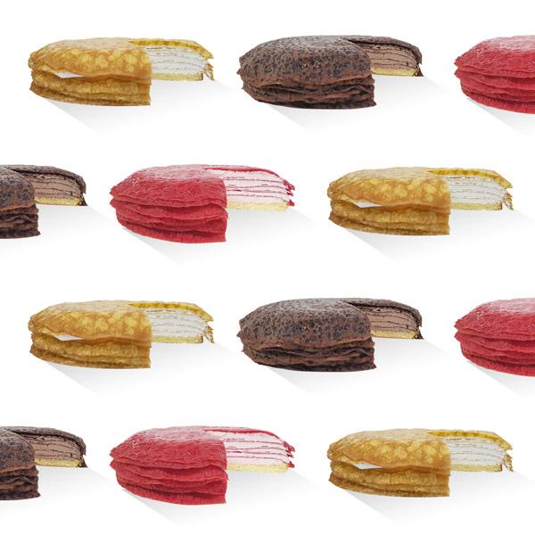 [PartyQue] 겹겹이 쌓은 달콤함! 크레이프 케이크(3종옵션선택/플레인,초코,딸기) 이미지