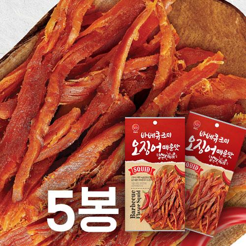 [썬푸드] 매콤한 바베큐맛 조미오징어(매운맛) 40g×5봉 / 10봉 이미지
