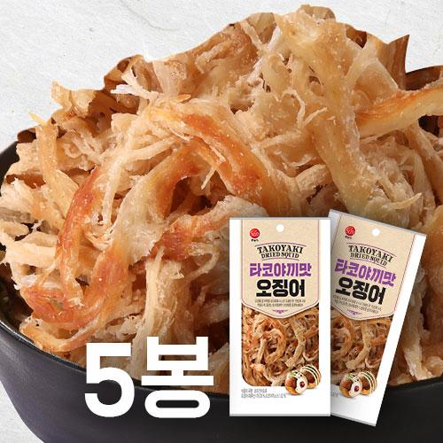 [썬푸드] 먹을수록 끌리는맛! 타코야끼맛 오징어 30g×5봉 /10봉 이미지