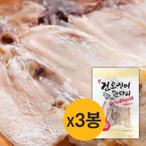 [썬푸드] 해풍으로 말린 건오징어 한마리 60g×3봉 / 5봉 이미지