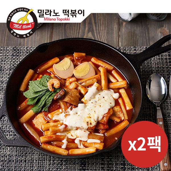 [밀라노떡볶이] 매콤달콤 오리지널떡볶이 700g(3인분)×2팩 이미지
