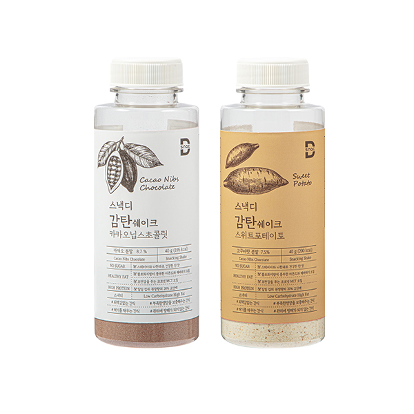 [스낵디]  단백질  쉐이크 2종 혼합 2box  (고구마+카카오) 이미지