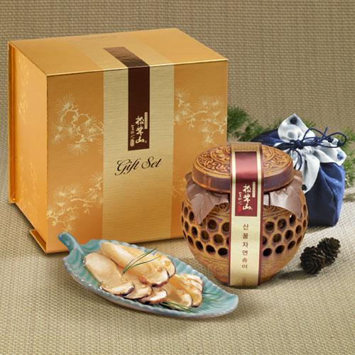 [설이왔소][참자연] 산(山)꿀 자연송이 담은꿀(도자기) 400g 이미지