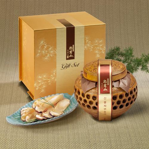 [설이왔소][참자연] 산(山)꿀 자연송이 담은꿀(도자기) 600g 이미지