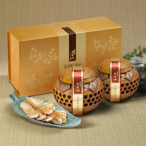 [설이왔소][참자연] 산(山)꿀 자연송이 담은꿀(도자기) 600×2개 이미지