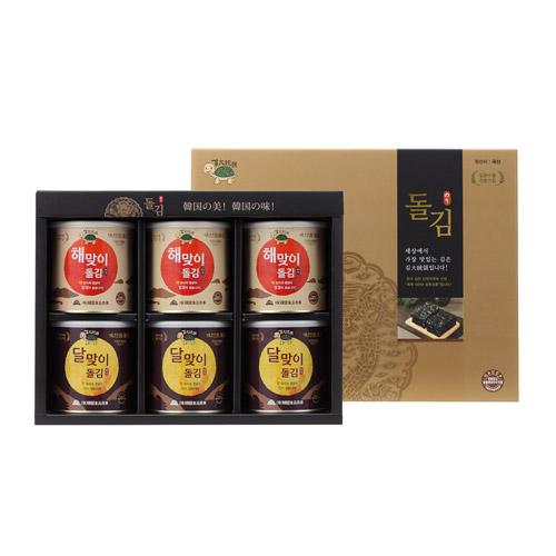 [설이왔소][김대통령] 해맞이&달맞이 캔돌김 선물세트 [중/각3캔씩] 이미지