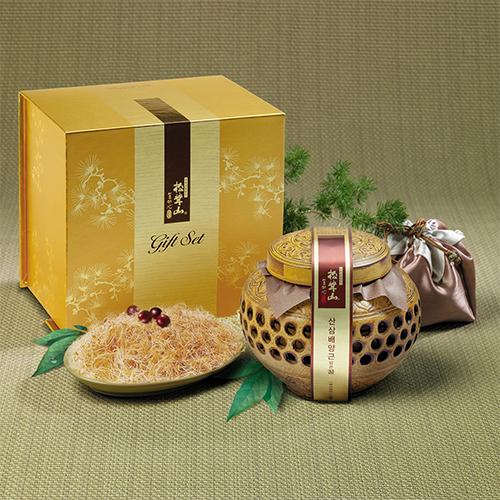 [설이왔소][참자연] 산(山)꿀 산삼배양근 담은꿀(도자기) 600g 이미지