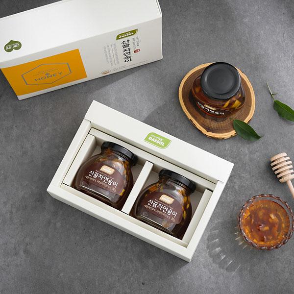[설이왔소][참자연] 산(山)꿀 자연송이 담은꿀 200g×2입(유리병) 이미지