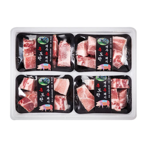 [설이왔소][제주흑돈] 제주 흑돼지 찜갈비 선물세트 [2.4kg] 이미지