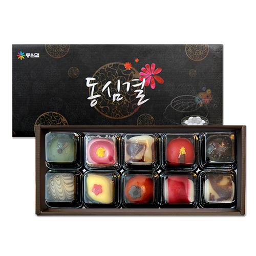 [설이왔소][동심결] 고운빛깔의 전통 수제 화과자 선물세트 1호 이미지